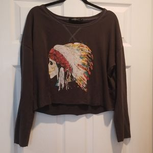VINTAGE cropped extra large sweatshirt